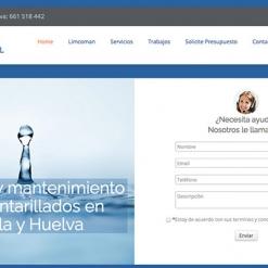 Diseño Web Empresa Alcantarillado Sevilla y Huelva